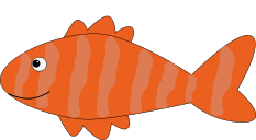 An orange striped fish