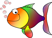 A rainbow-coloured fish